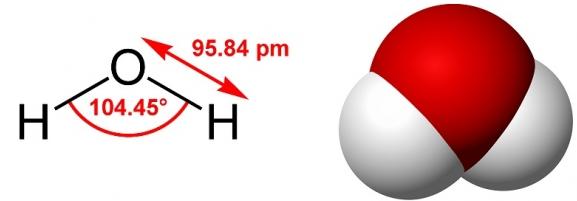 水分子的示意图