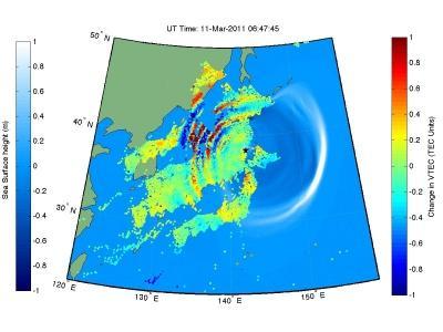 巨大地震和海啸不仅破坏了地面