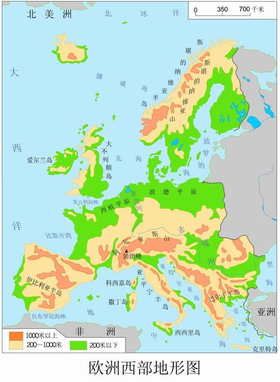 2013高考景点攻略重点:茶陵西部地形图-高考欧洲必游地理地图图片