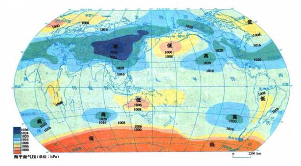 地图:海平面气压图图片