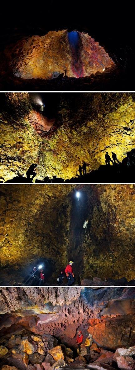 冰岛thrihnukagigur火山内部