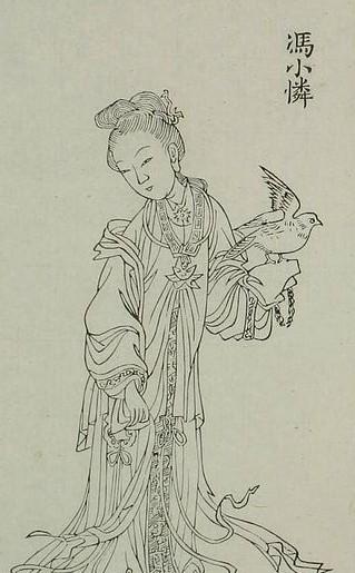 手绘妃子古代乐器图片