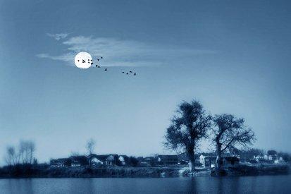 与月亮有关的诗配画