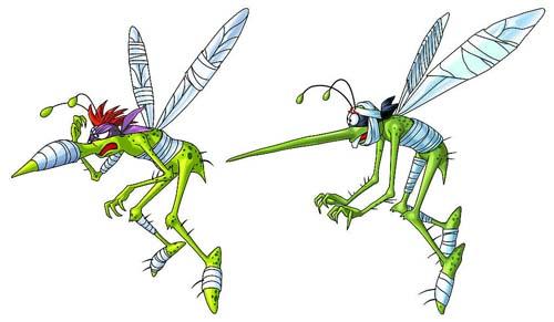 蚊子身体结构图片
