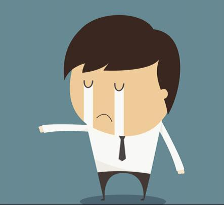郁闷的卡通图像
