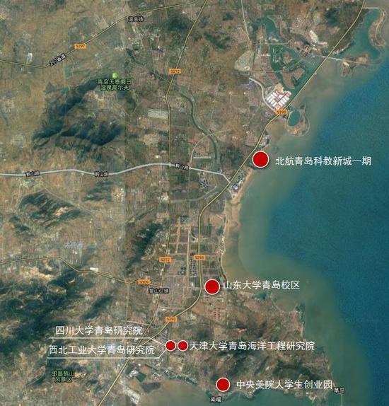 青岛科技大学崂山区地图