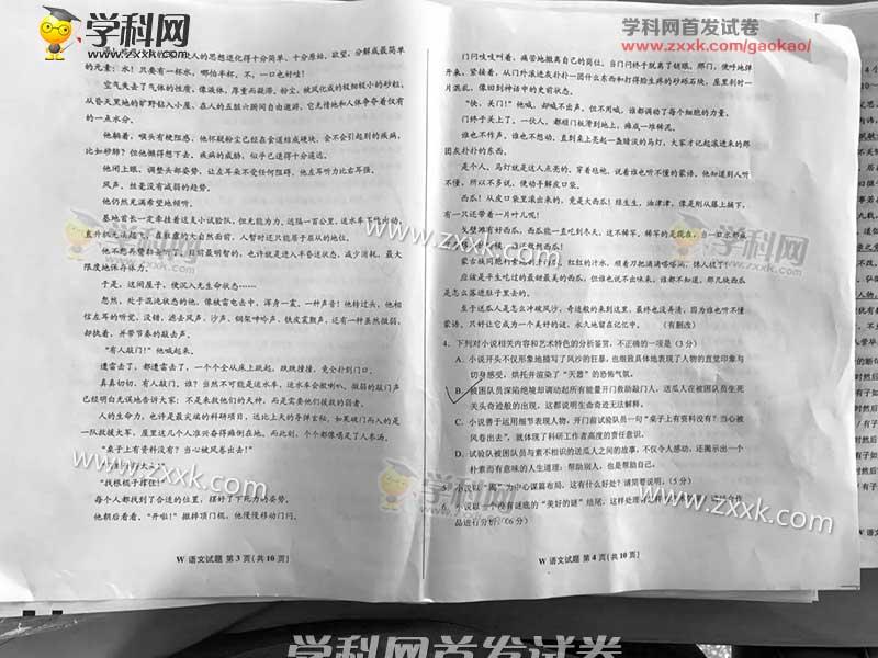2017年广东高考语文试题及答案 已公布